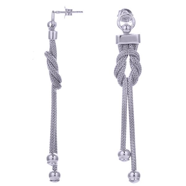 Серебряные серьги с родированием арт. COR1434-S COR1434-S