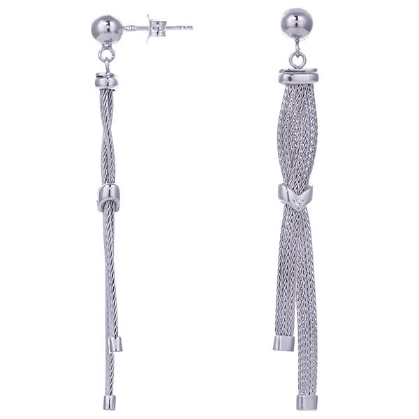 Серебряные серьги с цирконием арт. COR1450-S COR1450-S