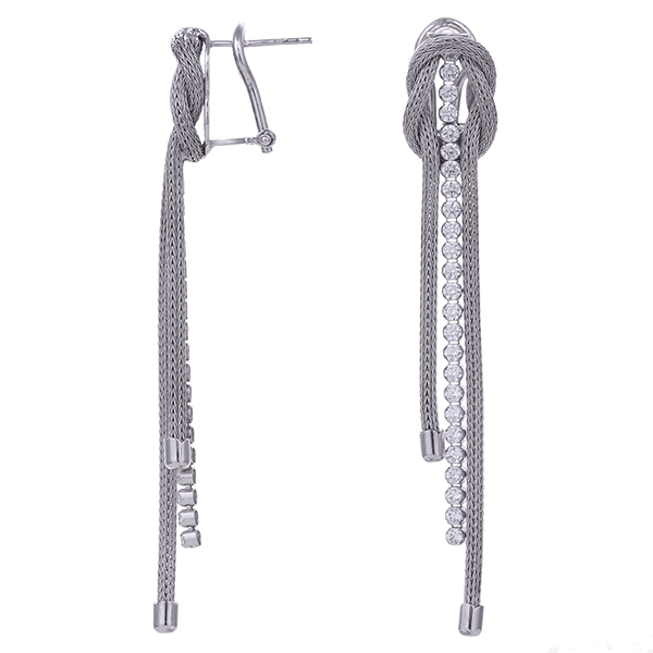 Серебряные серьги с цирконием арт. COR1464-S COR1464-S