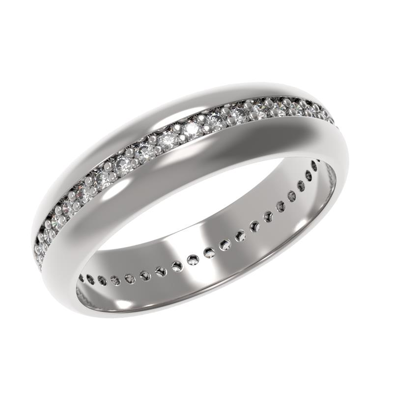 Обручальное кольцо из серебра с фианитом арт. 1035911-01110 1035911-01110