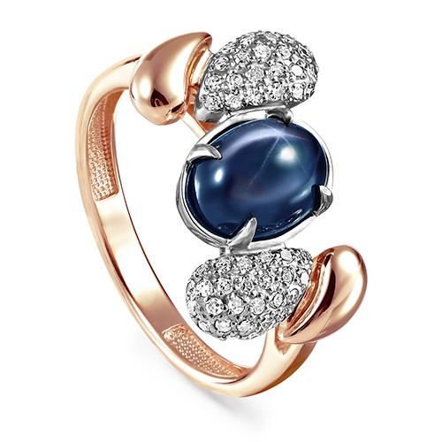 Золотое кольцо Бриллиант и Сапфир арт. 11-01164-1400 11-01164-1400