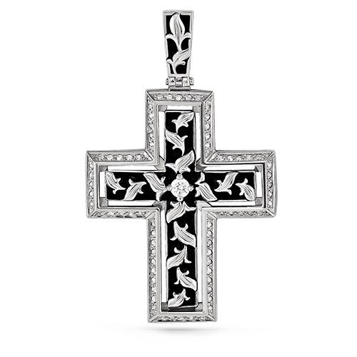 Серебряный крест с кристаллом сваровски арт. 3-138 3-138