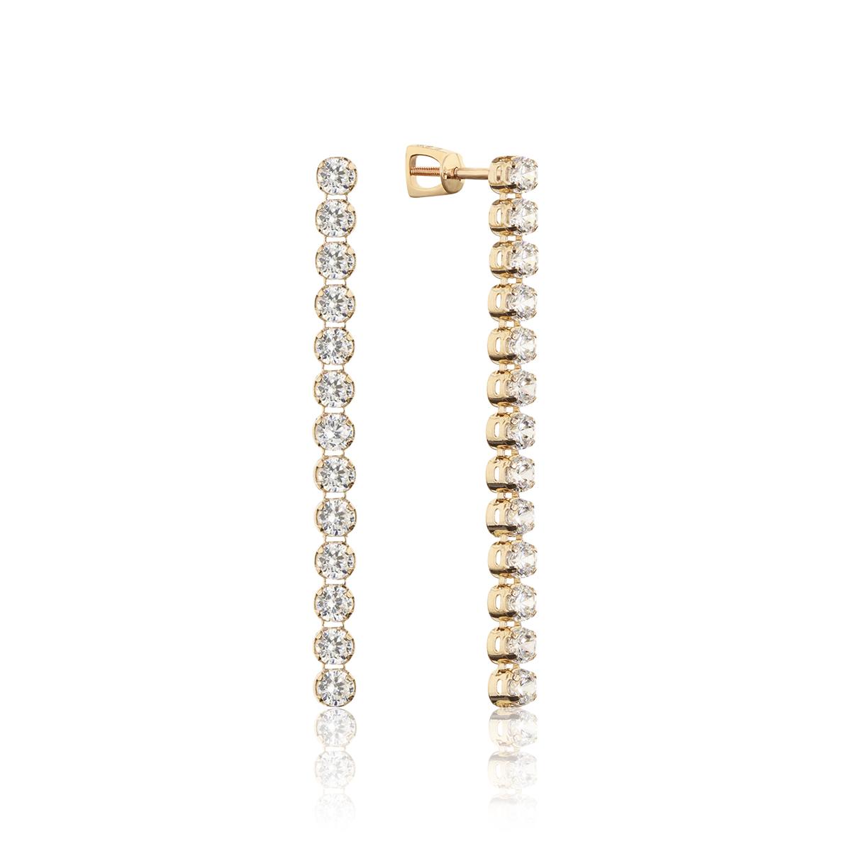 Серьги пусеты из золота с фианитом арт. 6602555 6602555