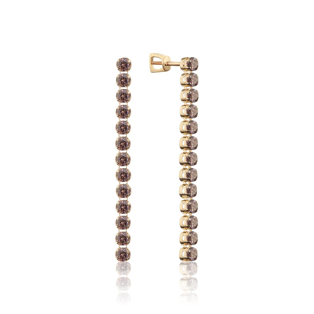 Серьги пусеты из золота с фианитом арт. 0702610 0702610