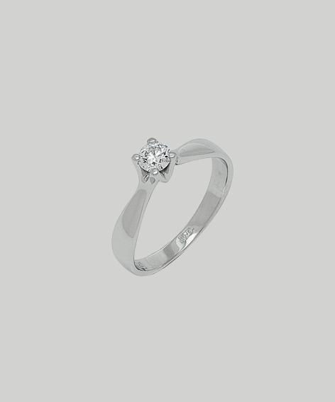 Кольцо из белого золота 23033