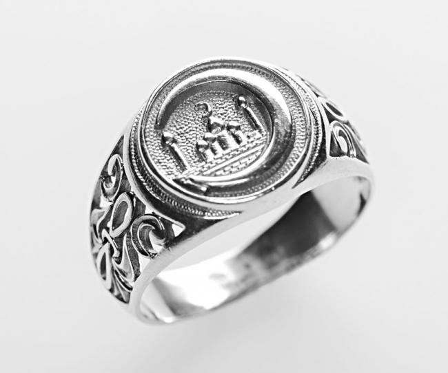Серебряная печатка ч3-967к-18.5