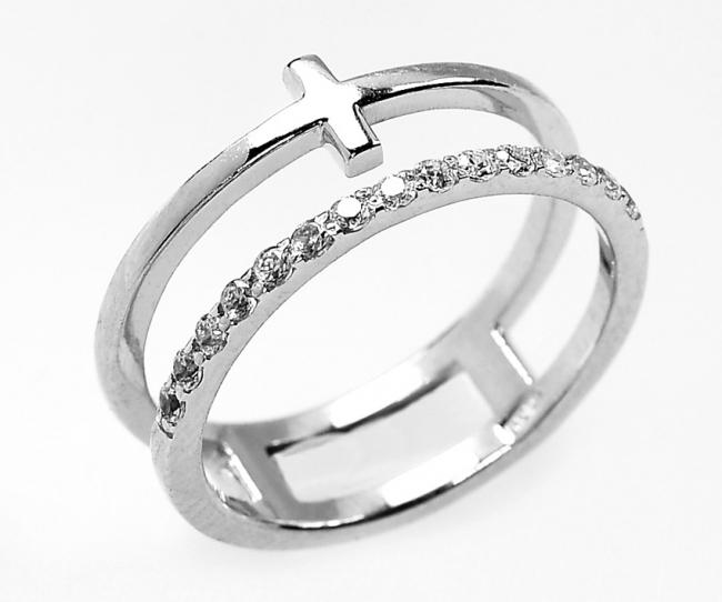 Серебряное кольцо с50-1322кф-16.5