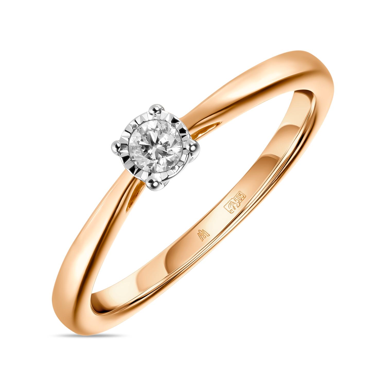 Золотое кольцо Бриллиант арт. r01-d-pl-33915-r r01-d-pl-33915-r