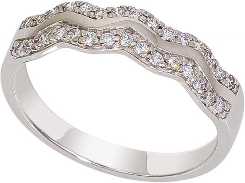 Кольцо из белого золота 1017051-21140