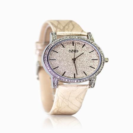 Женские часы с стразом, эбонитом и ювелирным стеклом арт. 47989 47989