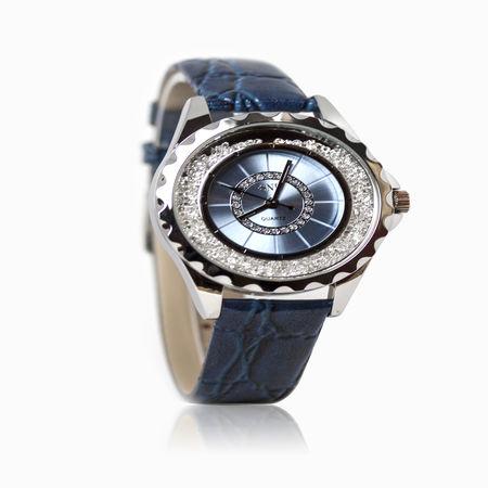 Женские часы с стразом, эбонитом и ювелирным стеклом арт. 48710 48710