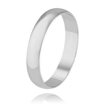 Обручальное кольцо из белого золота арт. 1236005-а51д-01 1236005-а51д-01