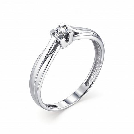 Помолвочное кольцо из белого золота с бриллиантом 13321-200