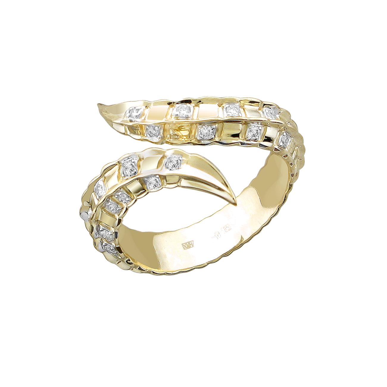 Кольцо из лимонного золота 01к6313335
