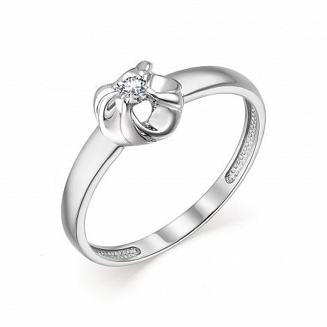 Кольцо из белого золота 13592-200