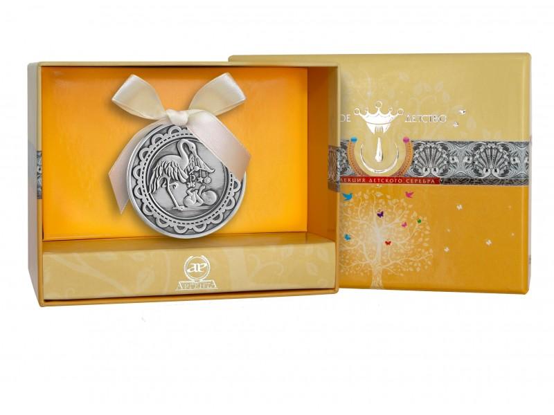 Серебряная медаль с эмалью арт. 1201св00807 1201св00807