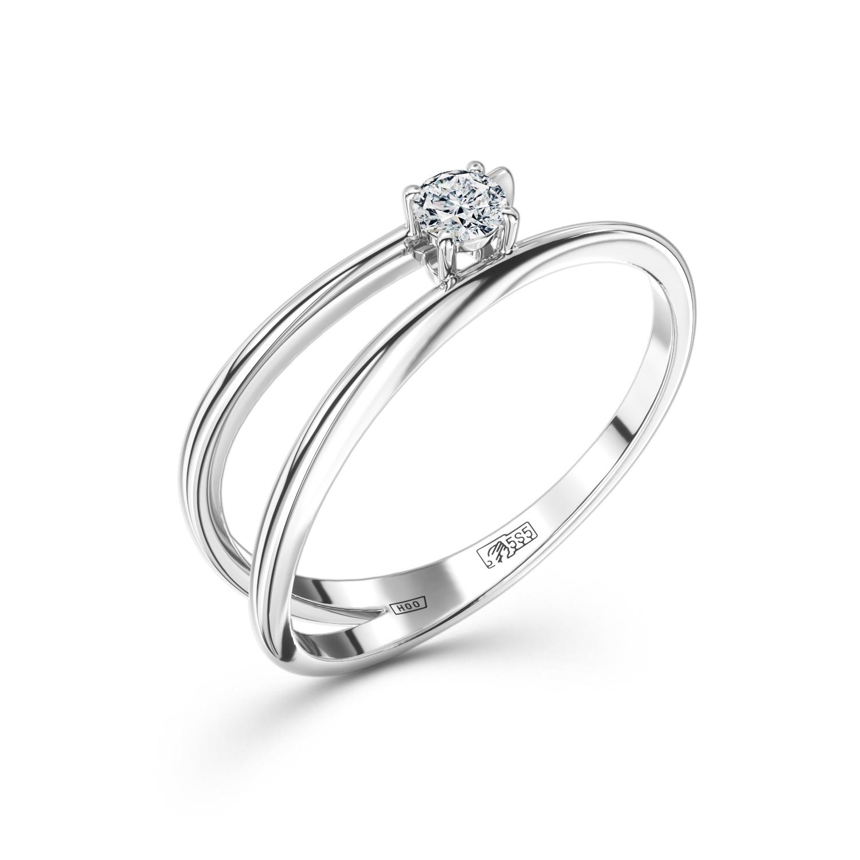 Кольцо из белого золота 0b017e21s
