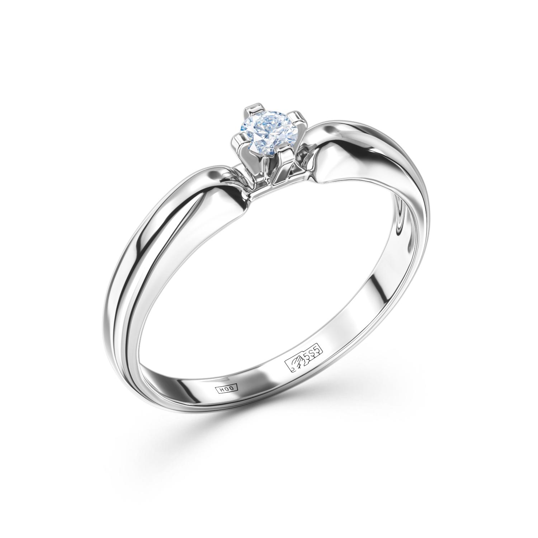 Кольцо из белого золота 0b007e21s