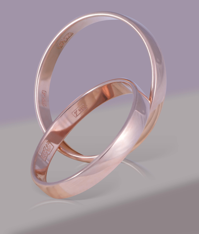 Обручальное кольцо из золота арт. 1230330-а50-01 1230330-а50-01