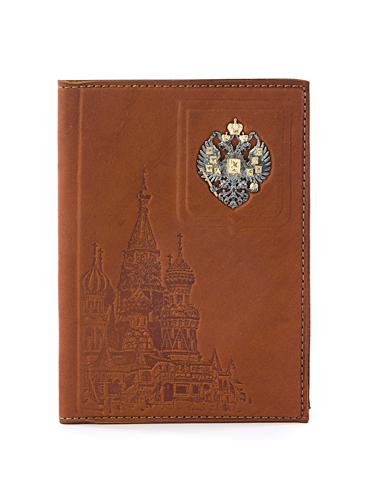 Обложка для паспорта с серебром позолоченным 925 пробы арт. Отчизна Отчизна