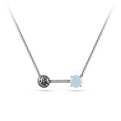 Серебряное колье с алпанитом и кристаллом сваровски арт. 16-165-60089 16-165-60089