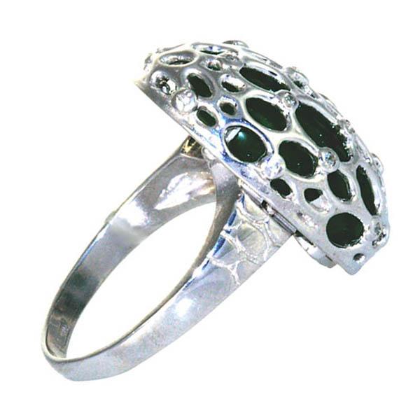 Серебряное кольцо 4к-80450-04