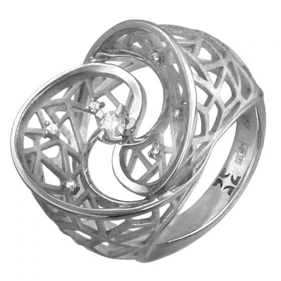 Кольцо из белого золота 01к627631