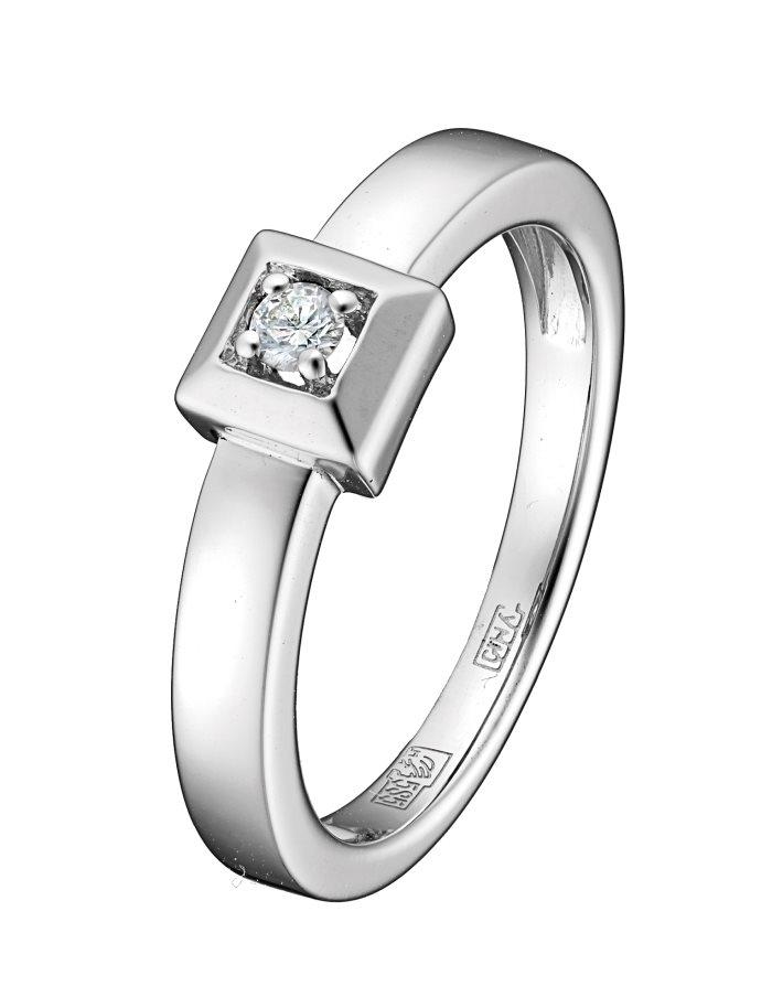Кольцо из белого золота 79716