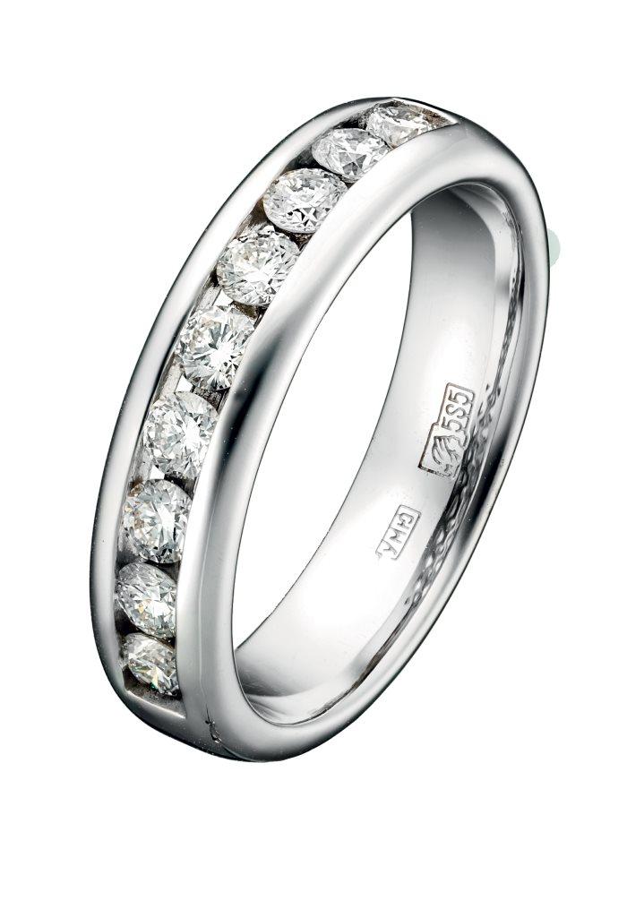 Кольцо из белого золота 79717