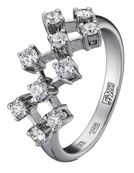 Кольцо из белого золота 79729