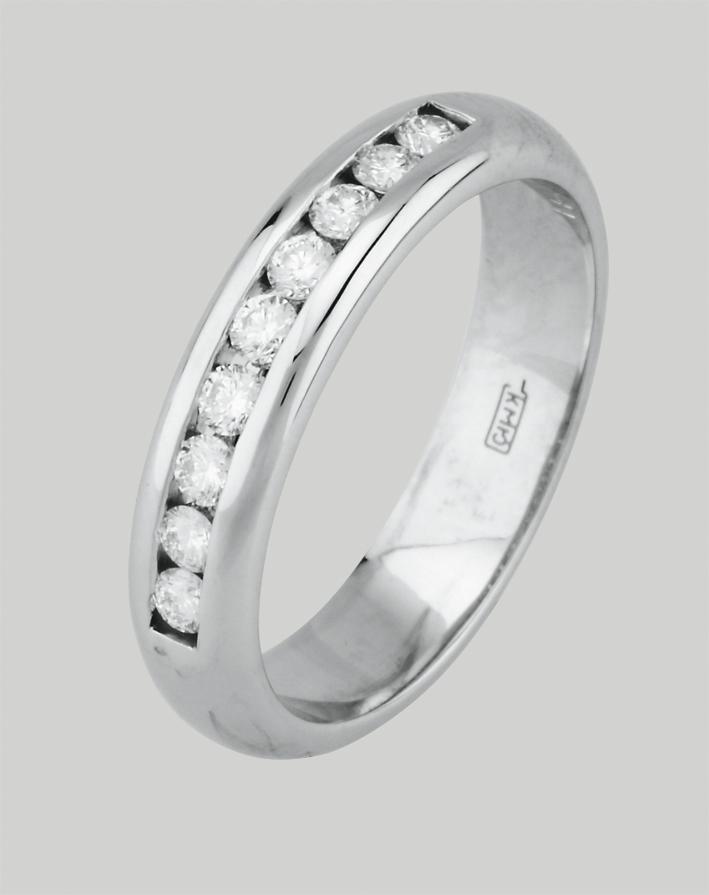 Кольцо из белого золота 76009