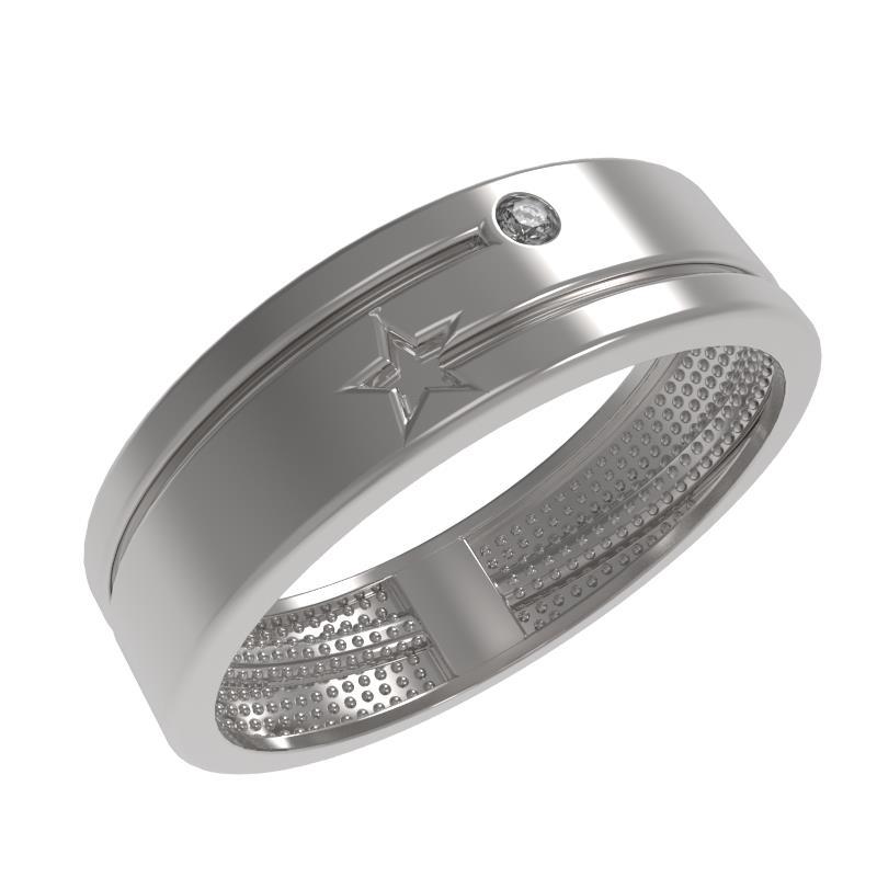 Обручальное кольцо из серебра с фианитом арт. 1035431-01210 1035431-01210