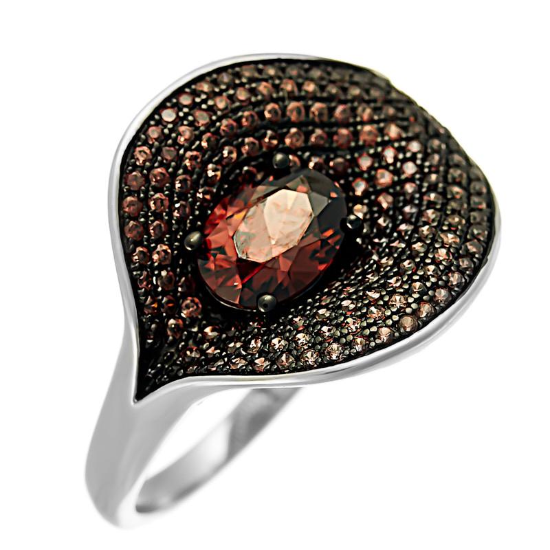 Серебряное кольцо CZ-R02367XWBDBXDB
