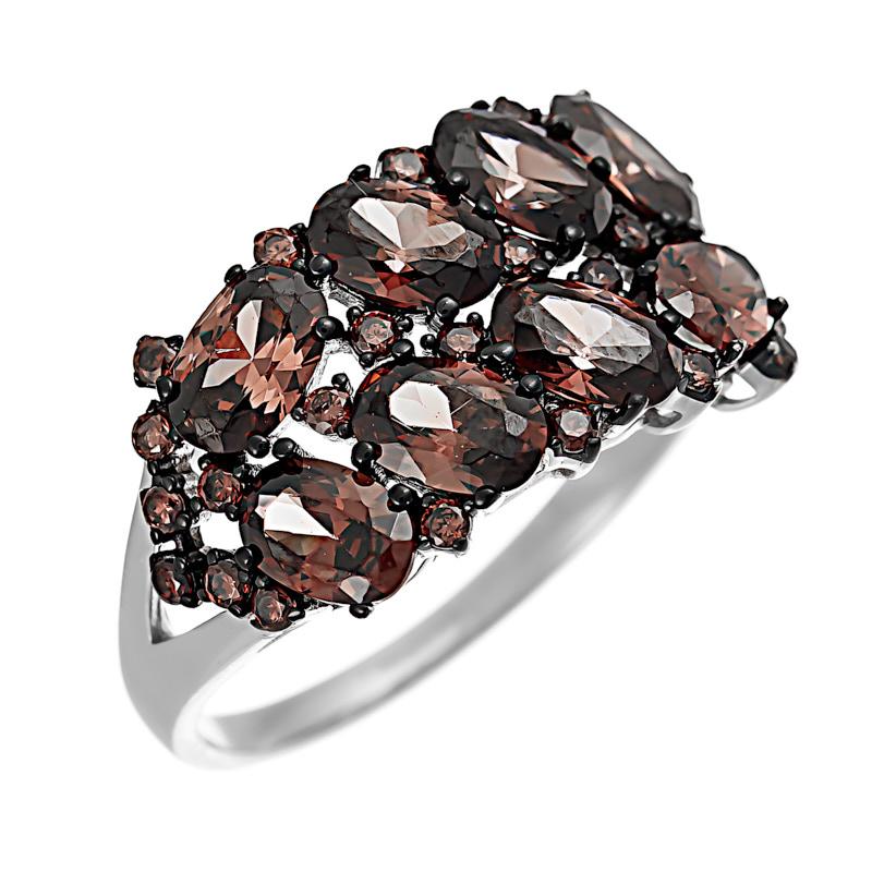 Серебряное кольцо CZ-R00320XWBDBXDB