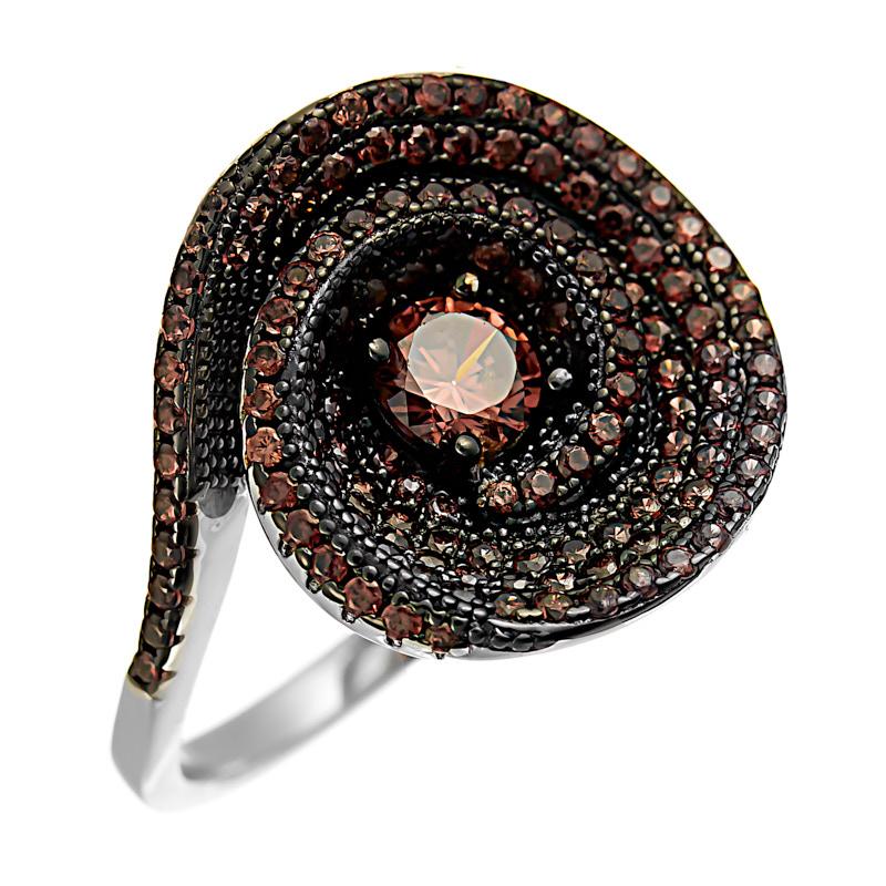 Серебряное кольцо CZ-R02366XWBDBXDB