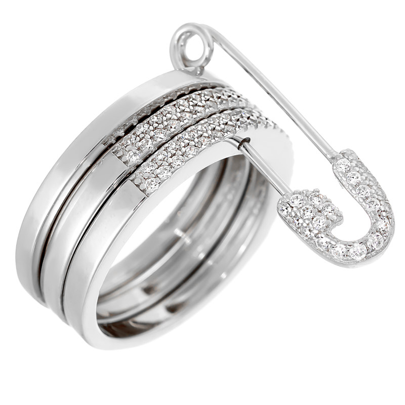 Серебряное кольцо CZ-R02394XWXXW