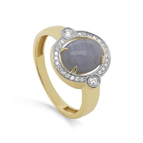 Кольцо из лимонного золота 11-21488-1700