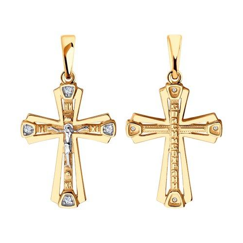 Золотой крест с фианитом арт. 51-131-00434-1 51-131-00434-1