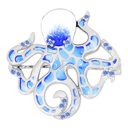 Серебряный подвес с цирконием и эмалью арт. 90-04-0419-00 90-04-0419-00