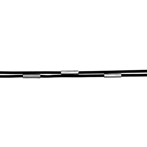 Серебряное колье с каучуком арт. 90-09-0257-00 90-09-0257-00