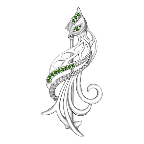 Серебряная брошь с цирконием арт. 90-04-0380-00 90-04-0380-00