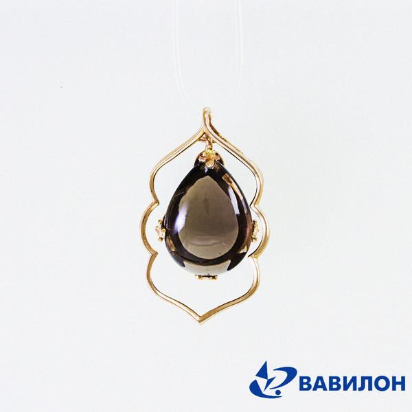 Золотой подвес с дымчатым кварцем арт. 3180257 3180257