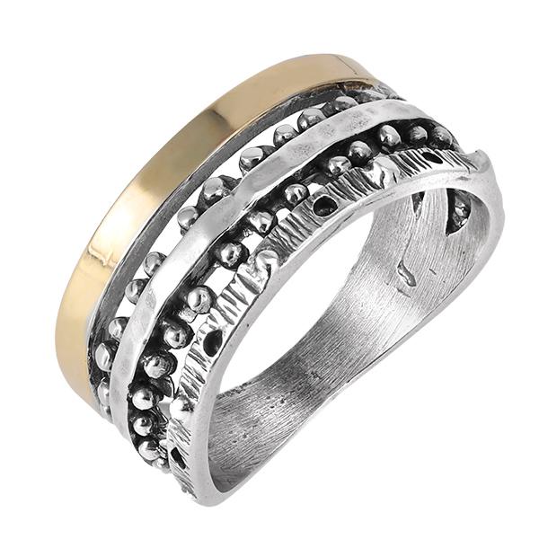 Кольцо серебряное с позолотой mvr1604g