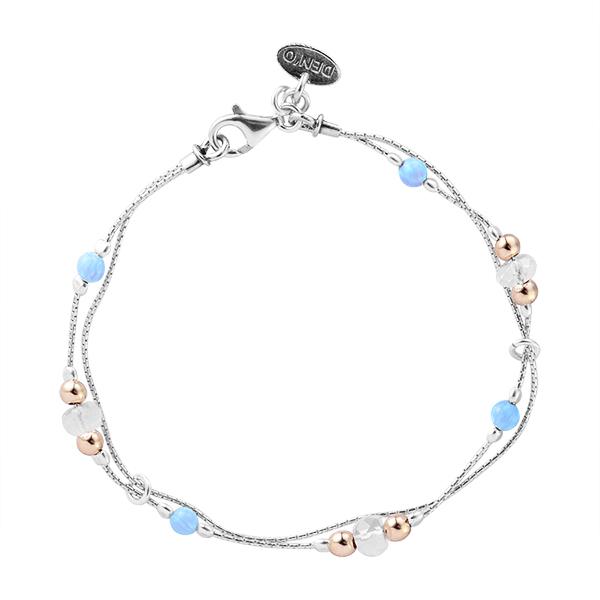 Серебряный браслет с искуственным опалом арт. 01b744op 01b744op