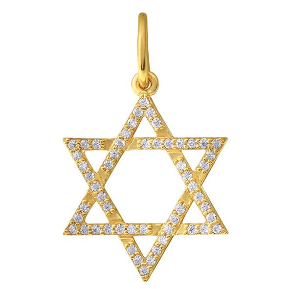 Звезда Давида из золота с фианитом арт. 851062 851062