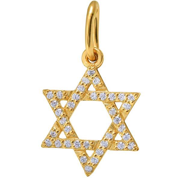 Звезда Давида из золота с фианитом арт. 851062-1 851062-1