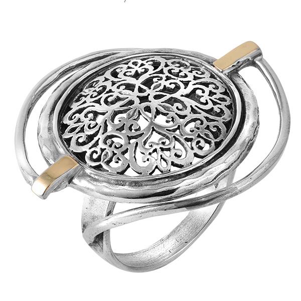 Кольцо серебряное с позолотой mvr1388/2g