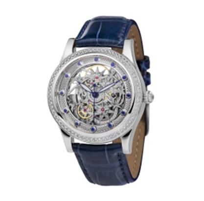 Женские часы из белого золота с бриллиантом и сапфиром арт. 1100.42.2.36A 1100.42.2.36A