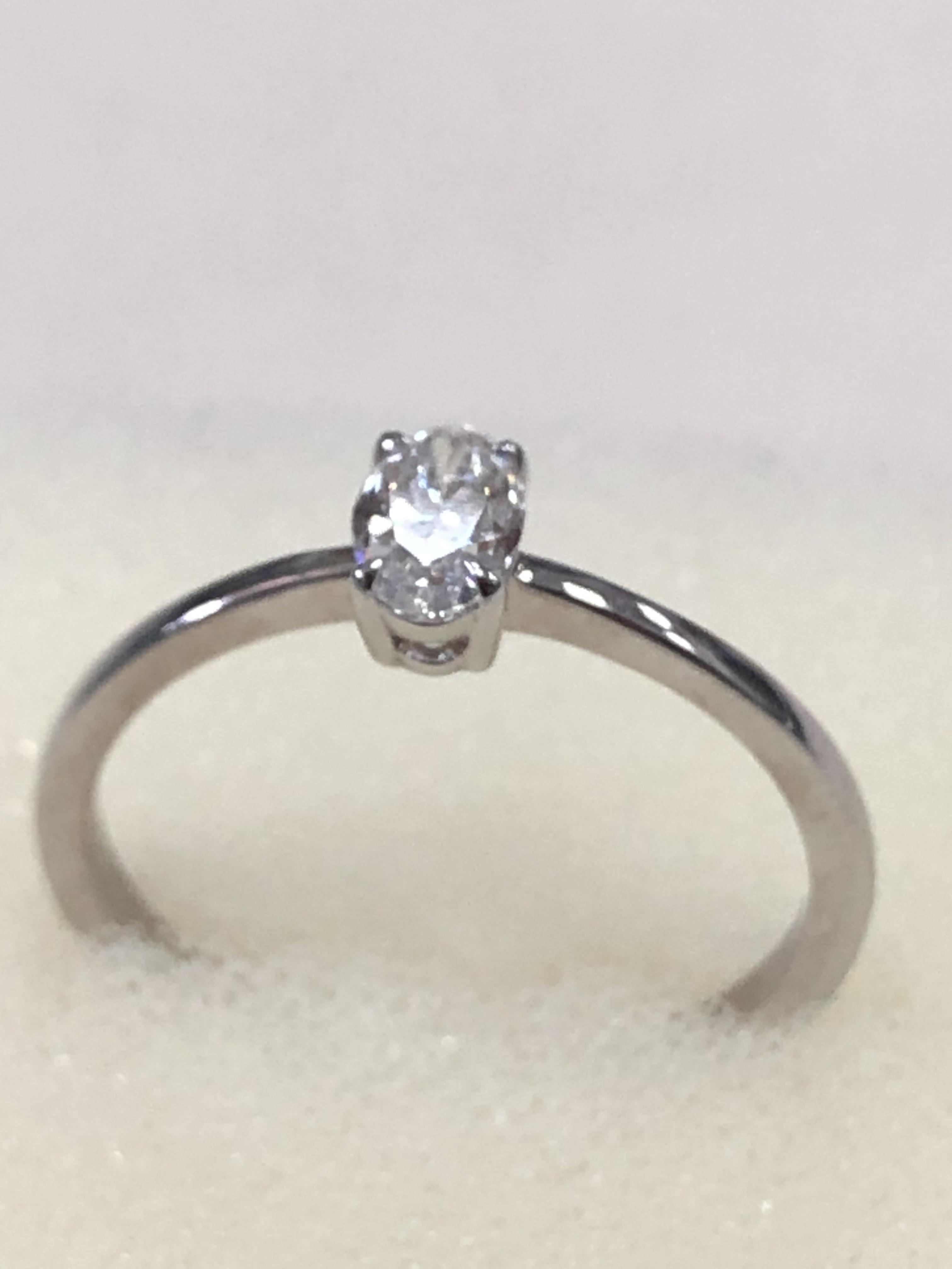 Кольцо из белого золота 6101SH38