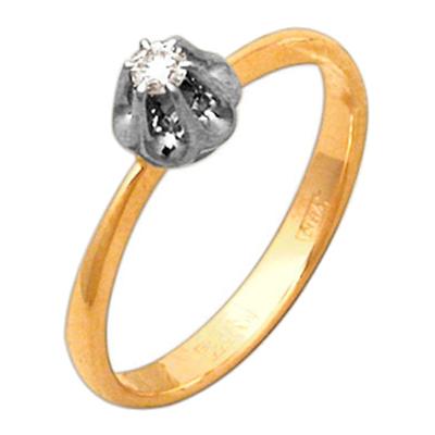 Помолвочное кольцо из золота с бриллиантом Бриллиант арт. 28500038 28500038